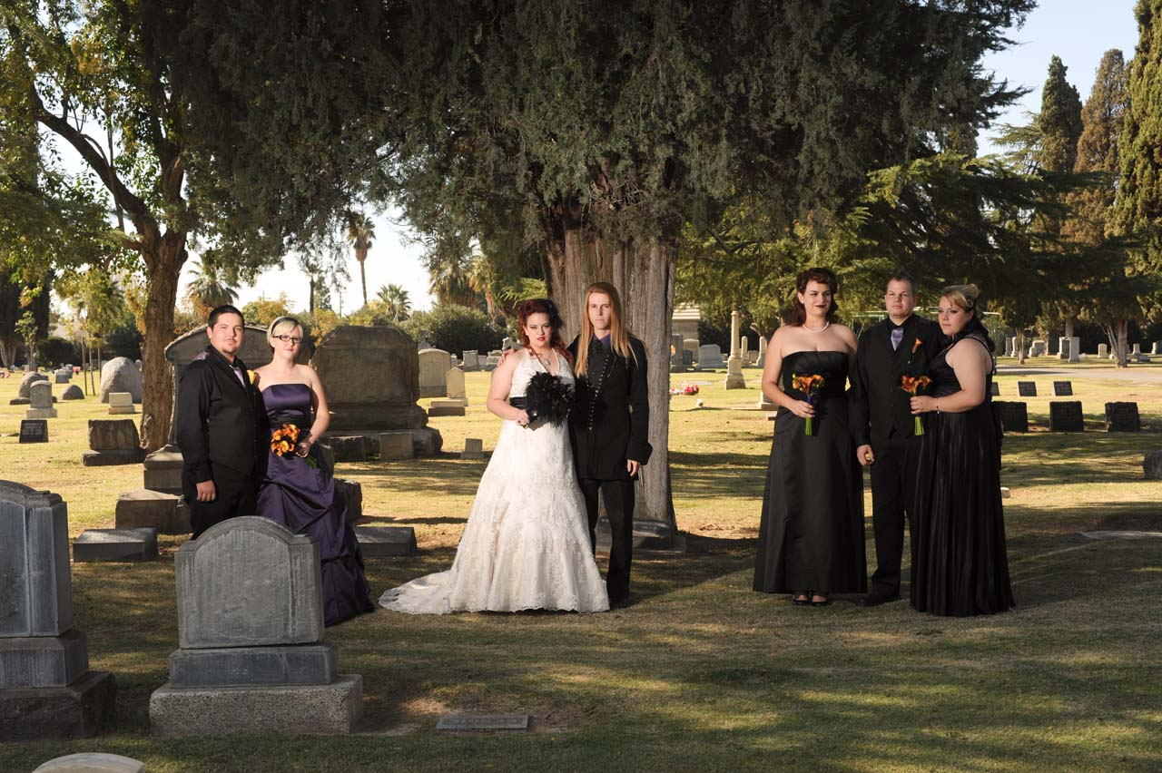 cemetery wedding