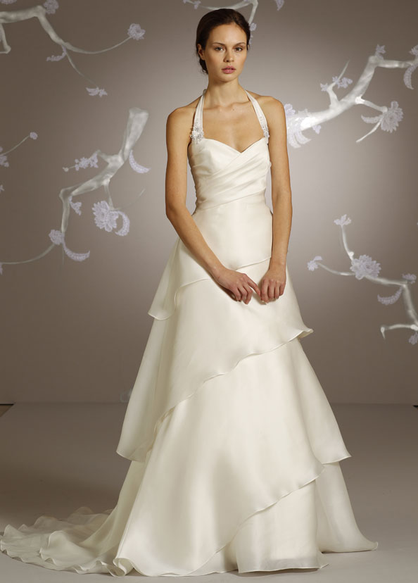 silk-like wedding dress