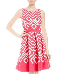 Red Decorative pattern Fabulous Frocks