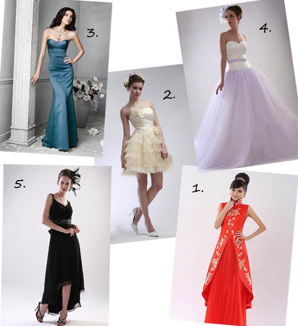 kinds of cocktail dresses
