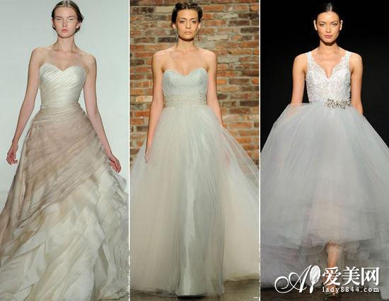 soft pastel colors wedding dresses