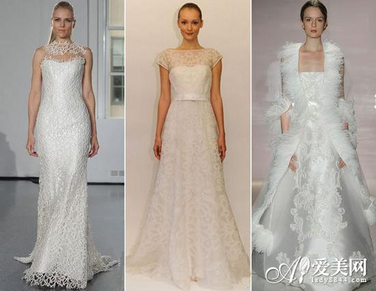 Special fabrics wedding dresses