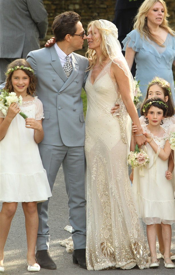 Kate Moss mermaid wedding dress