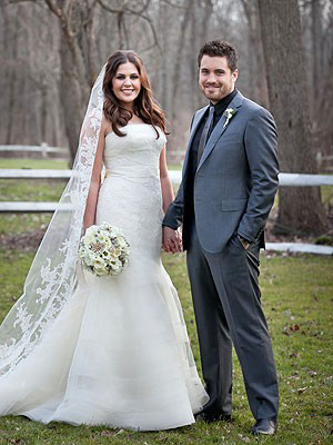Hillary Scott and Chris Tyrrell Mermaid Wedding Dress