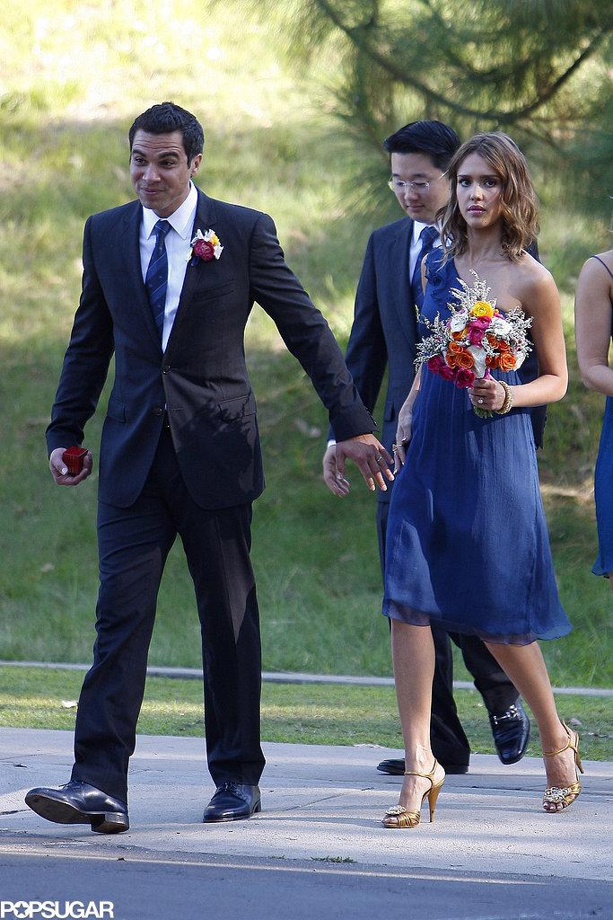 Jessica-Alba-bridesmaid-Cash-Warren-best-man