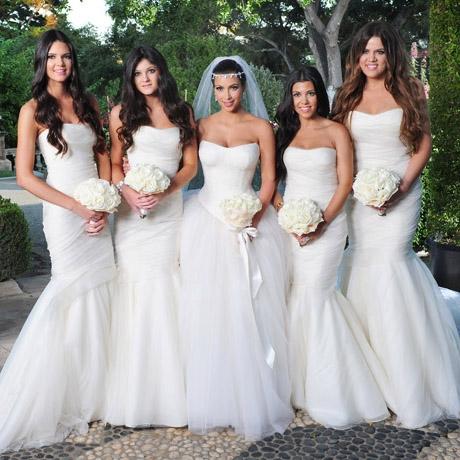 Kim Kardashian sisters bridesmaid dresses