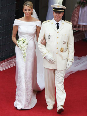 Prince Albert of Monaco and Charlene Wittstock mermaid Wedding Dress