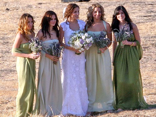 Rachel Bilson bridesmaid dress