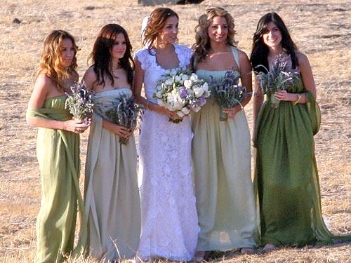 Rachel Bilson bridesmaid dress