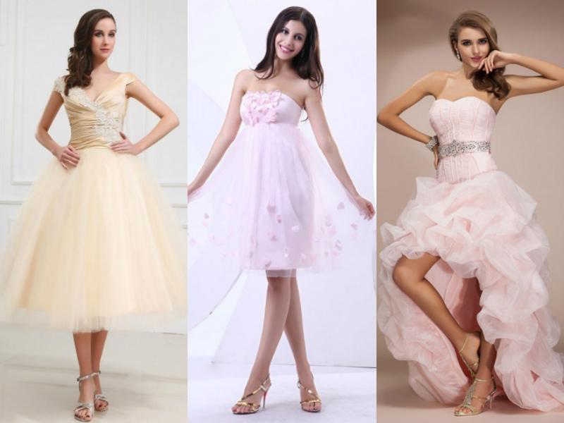 colorful short wedding dresses 2014