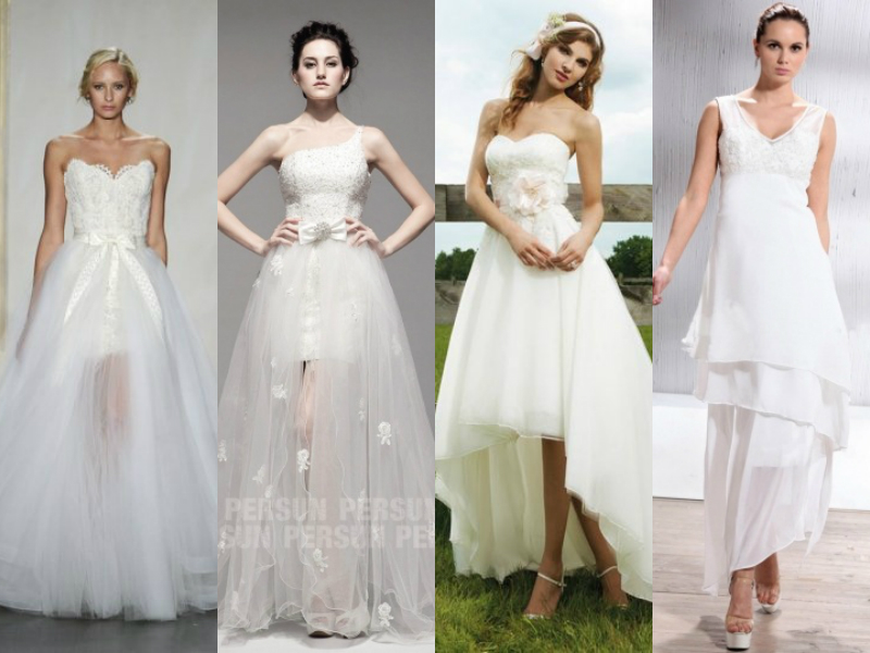 high low trendy  wedding dresses
