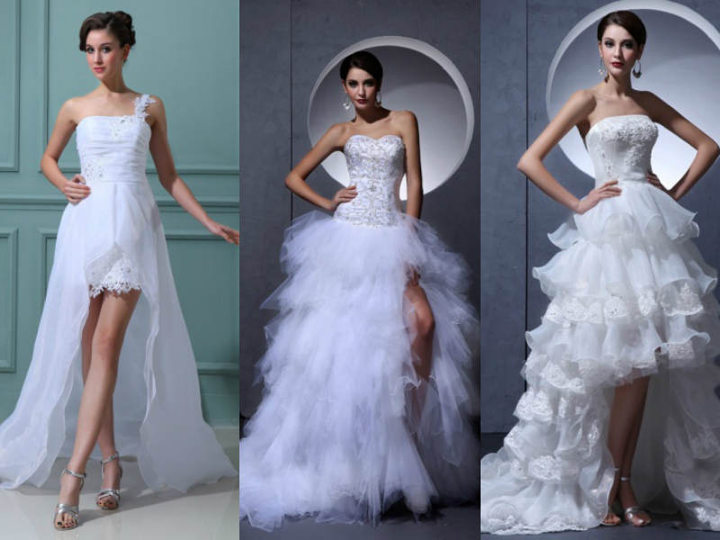 high low wedding gowns
