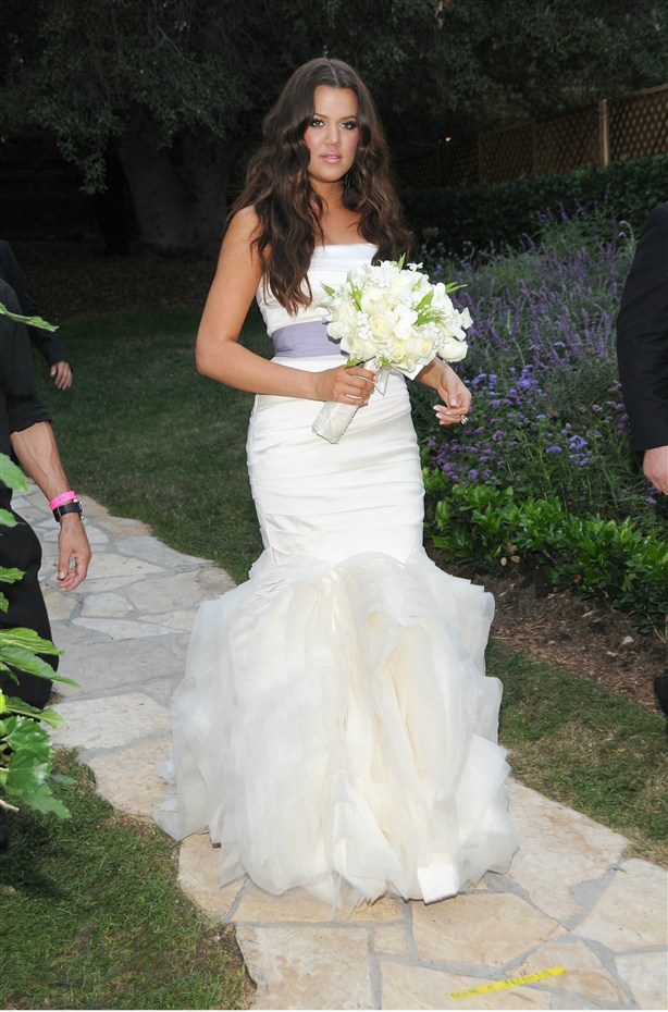 khloe kardashian mermaid wedding dress