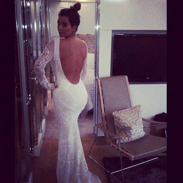 kim kardashian mermaid wedding dress