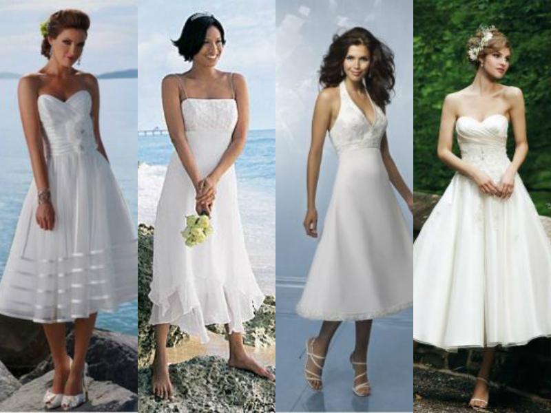 tealegth wedding dresses