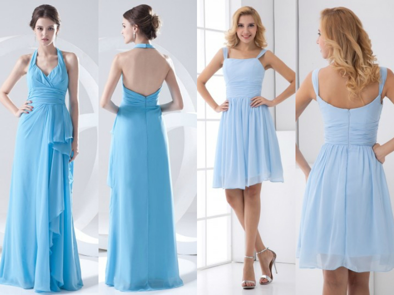 light blue bridesmaid dresses