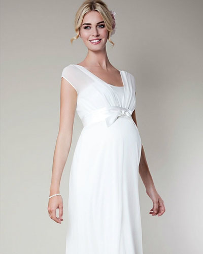 empire chiffon wedding dress