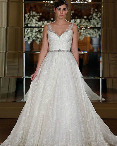 lace a-line natural wedding dress