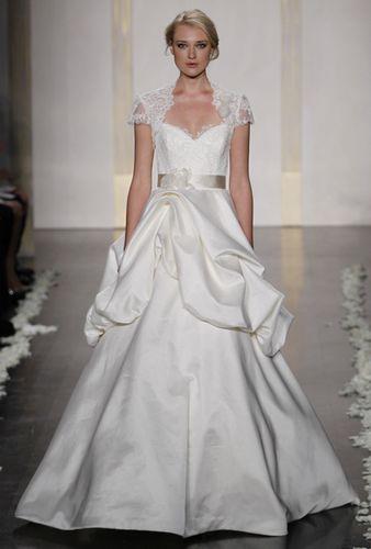 Portait a-line wedding dress