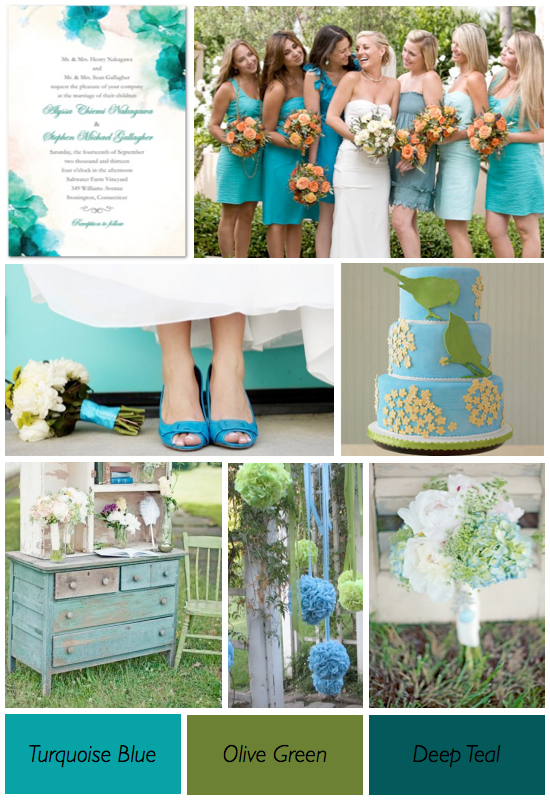 blue color wedding scheme