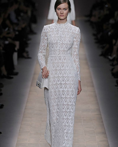chiffon wedding dress with long sleeves