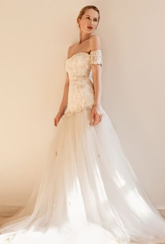 sheath lace off shoulder wedding dress