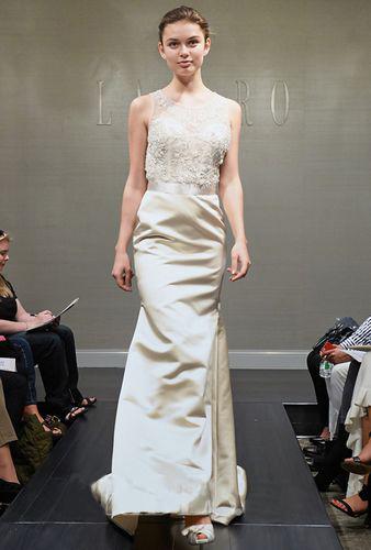 small round collar wedding dress