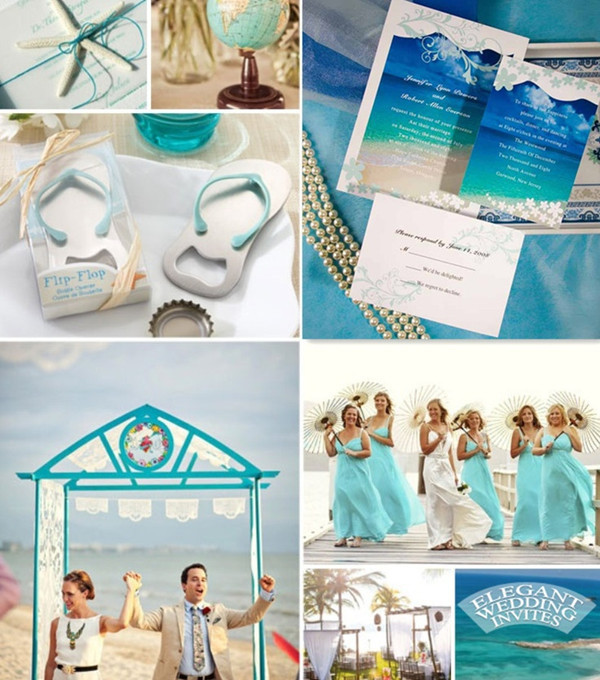 water blue wedding themes