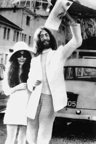Yoko Ono's wedding photo