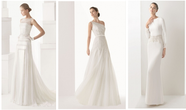 long white wedding dresses