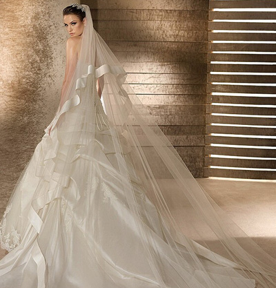 satin empire wedding dress