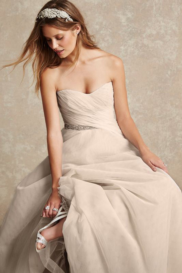 sweetheart strapless sequins wedding dress