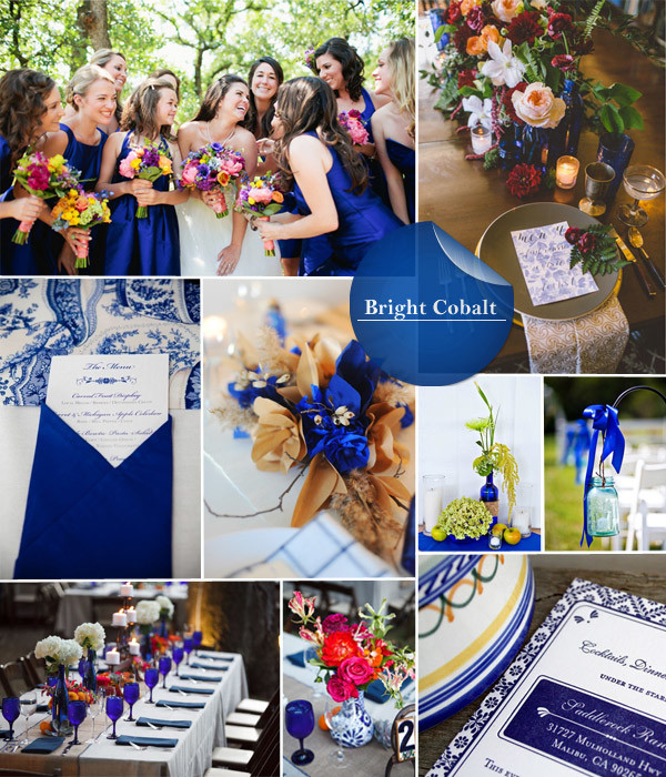 Bright Cobalt wedding background