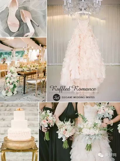 ruffled romance wedding background