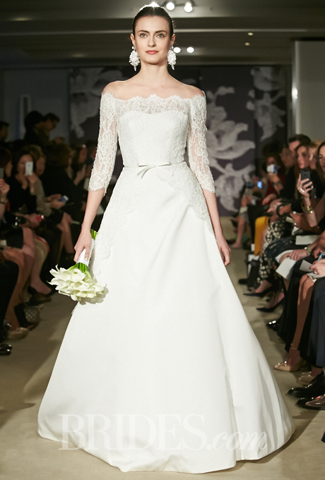 Carolina Herrera off shoulder a line wedding dress