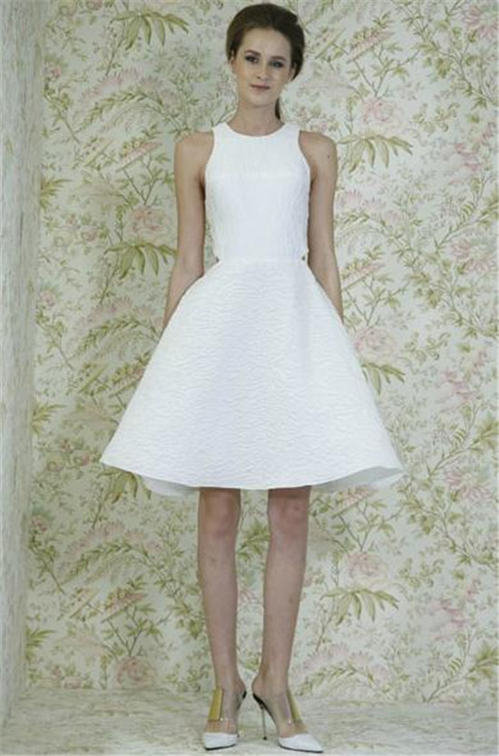 AngelSanchez2015 simple short wedding dress