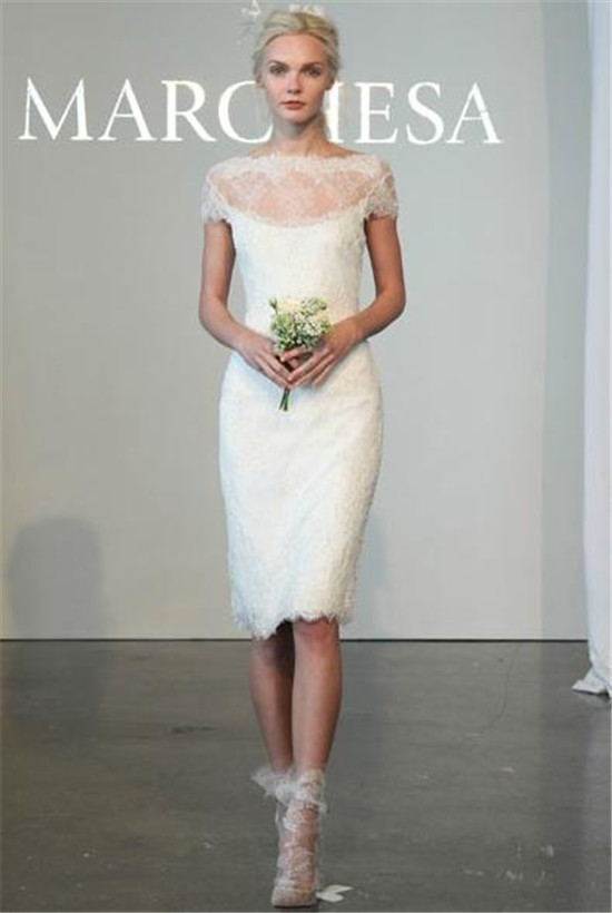Marchesa2015 off shoulder lace wedding dress