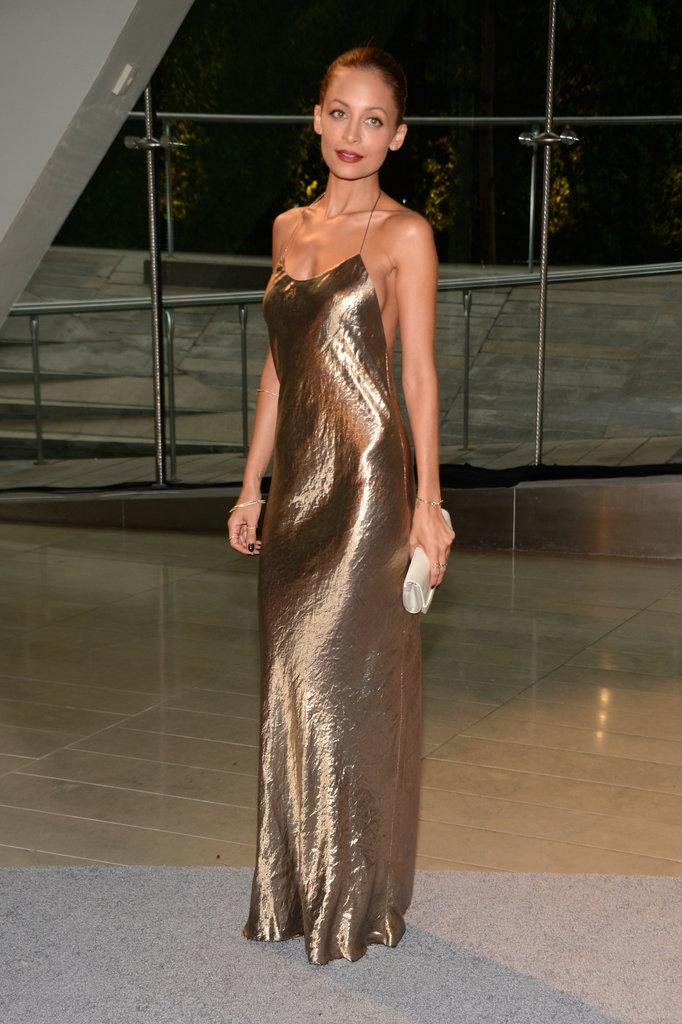 Nicole richie gold formal dress