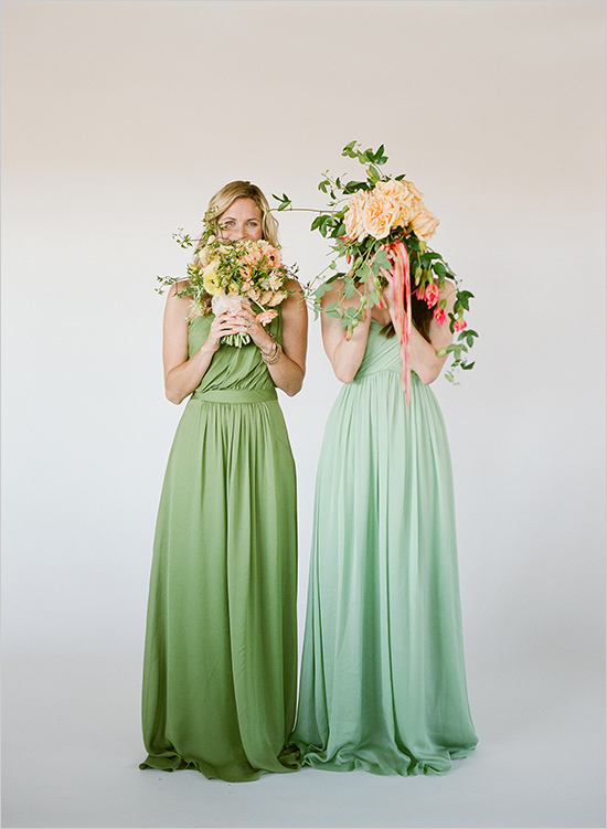 green Bridesmaid Dresses AU