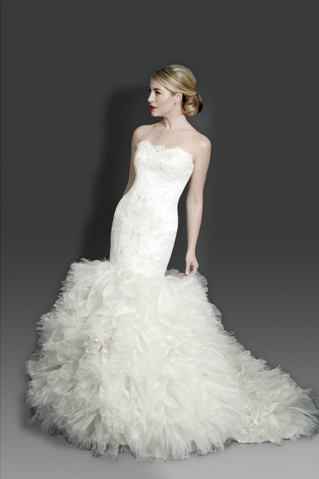 modern strapless Wedding Dresses Australia