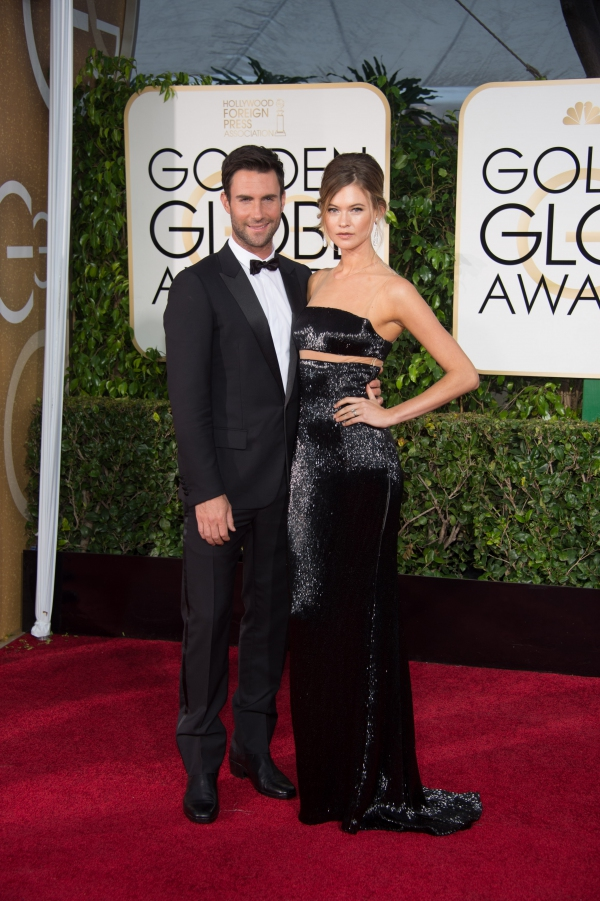 Behati Prinsloo at GOLDEN GLOBES 2015